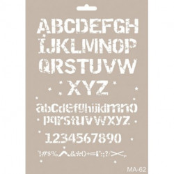 Stencil Mix Media Corazones 21x30 cm