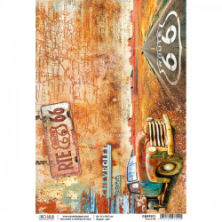 Papel de arroz Route 66