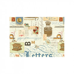 2 Papeles ROSSI Lettres 50x70
