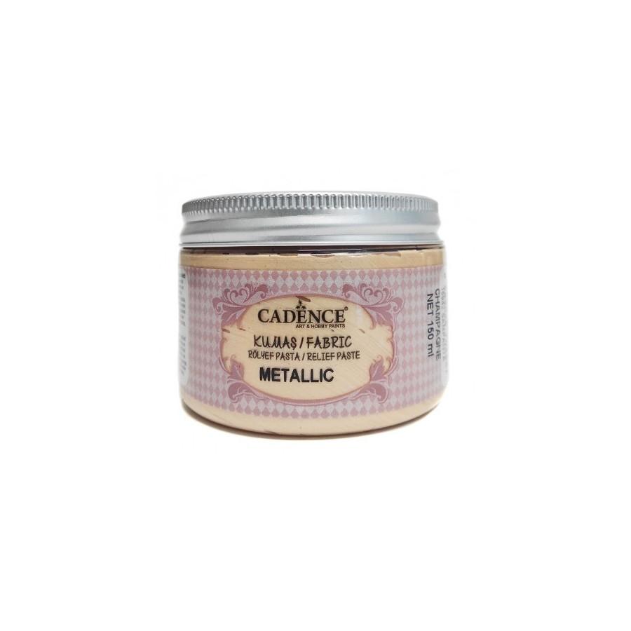 Pasta de Relieve Textil METALLIC Champán