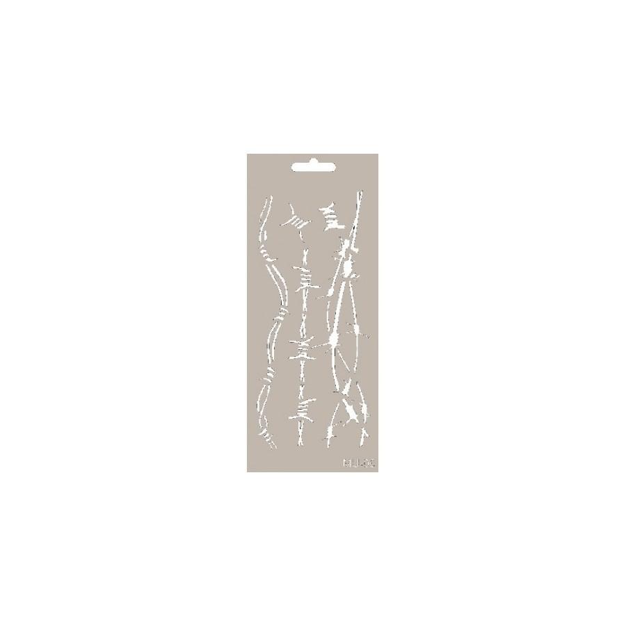 Stencil Mix Media ALAMBRE ESPINO