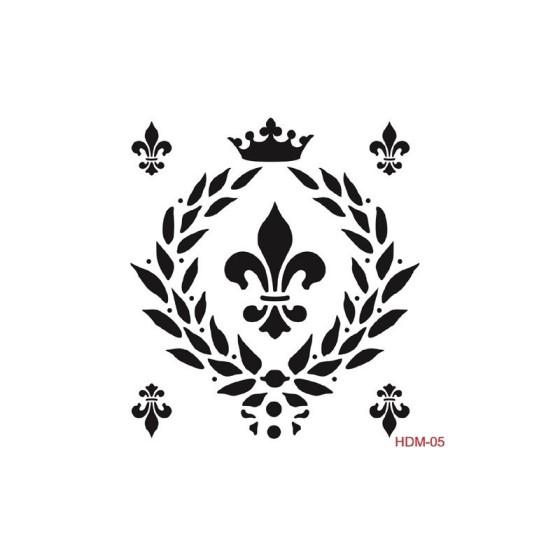 Stencil FLOR DE LIS 05 25x25cm