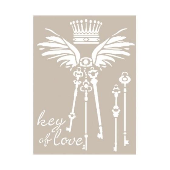 Stencil KEY OF LOVE