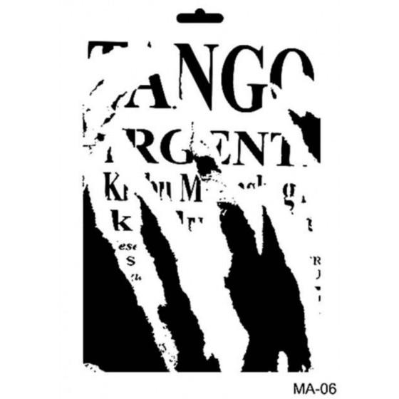 Stencil Mix Media 06 TANGO