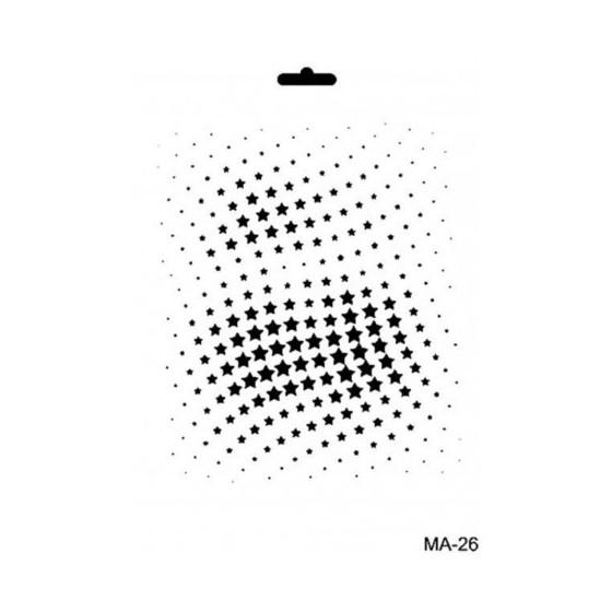 Stencil Mix Media 26 ESTRELLAS