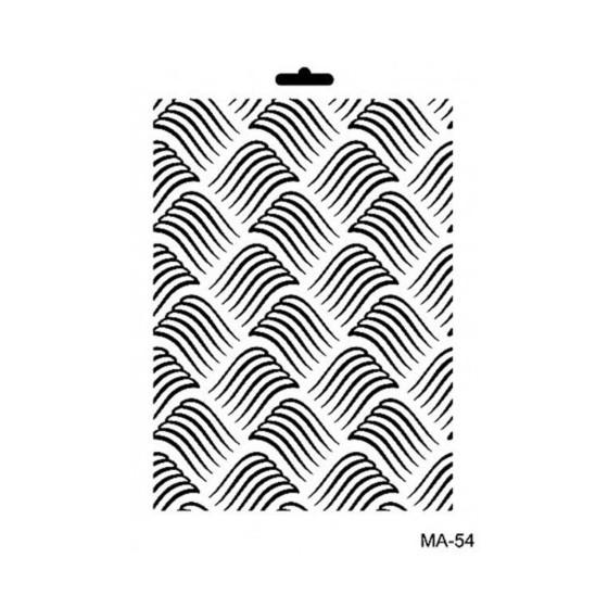 Stencil Mix Media 54 TEXTURA