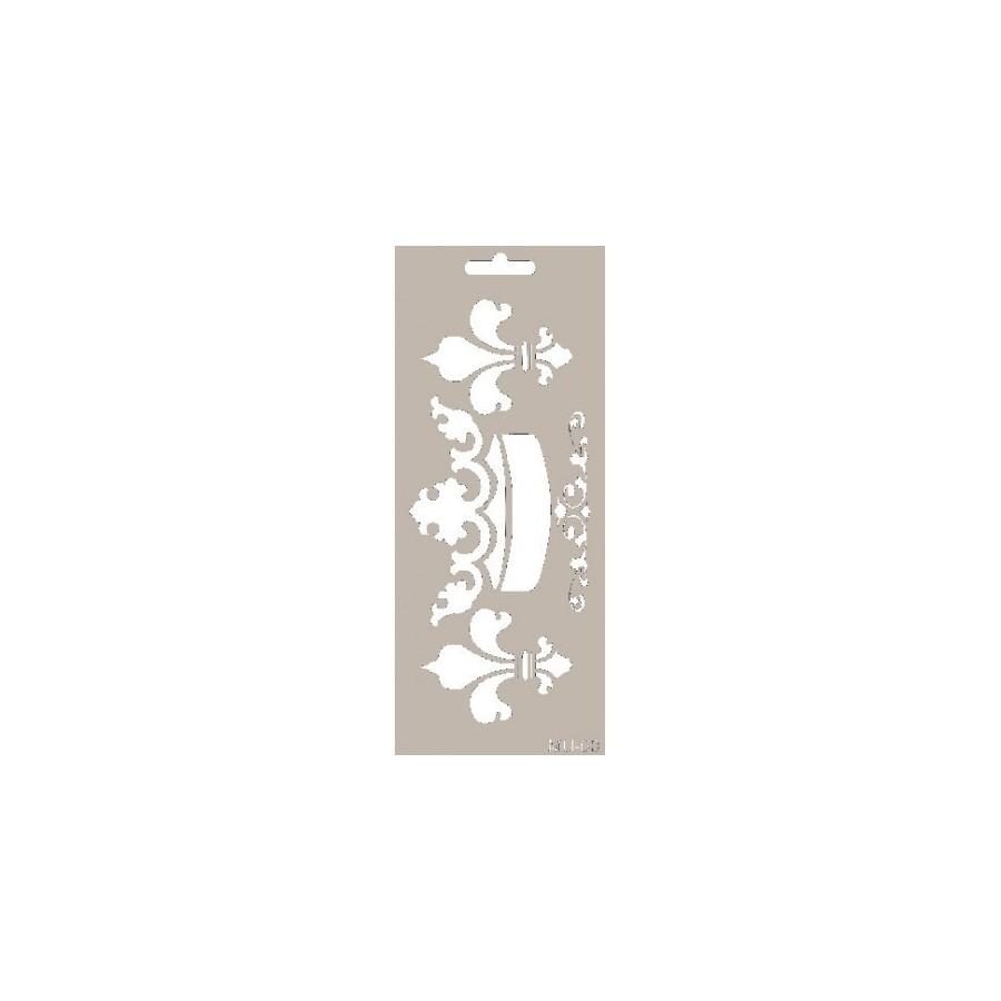 Stencil Mix Media CORONA