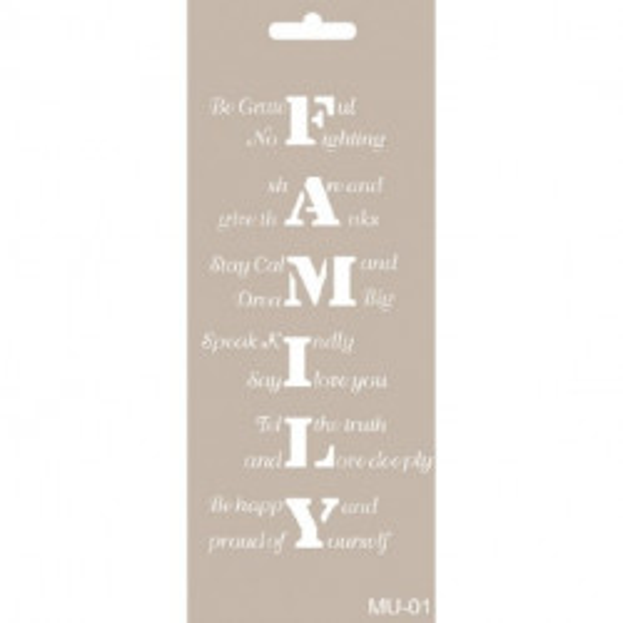 Stencil Mixed Media FAMILY
