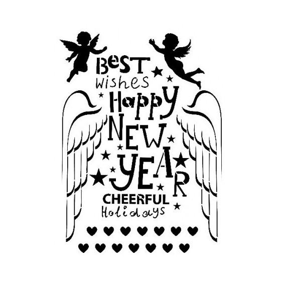 Stencil AS554 HAPPY NEW...