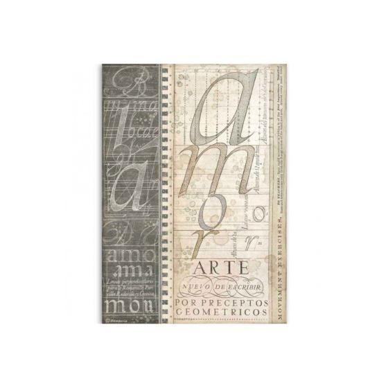 Papel Arroz 4525 Alphabet...
