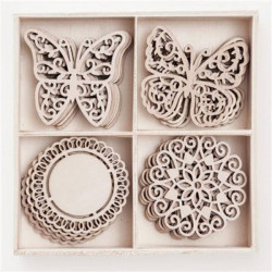 WOODEN SHAPES DECORS AND...
