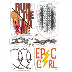 "Clear Stamp Set 4""x6"" Epic..."