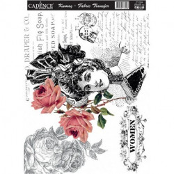 Transfer Para TEJIDOS Women Rosas