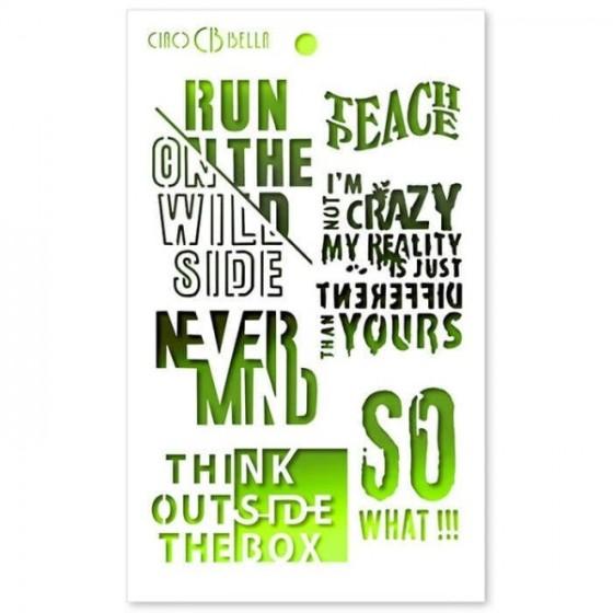 Stencil Mix Media Think...
