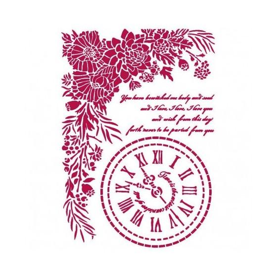 Stencil A4 Romantic Journal...